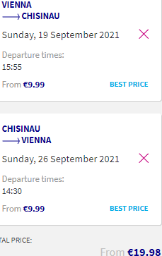 Cheap flights from Vienna, Austria to Chisinau, Moldova over Summer Holidays for €19.98!