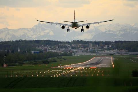 Plane Landing at Zurich
