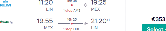 Fly from main airports in Italy to Mexico City from €457 with Air France-KLM!