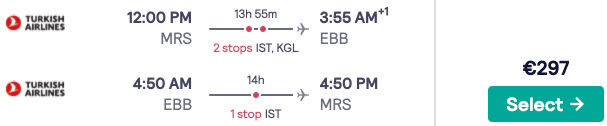 Fly full-service from France to Entebbe, Uganda from just €297rtn!