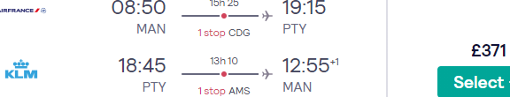 Air France-KLM cheap flights from the UK to Panama from £371!
