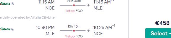 Cheap Alitalia flights from Italy, Amsterdam, Geneva, France or Germany to tropical Maldives from €439!
