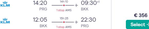 Cheap flights from Prague to Bangkok, Thailand from €356!