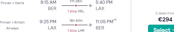 Fly from main airports in Germany to the USA from €294!