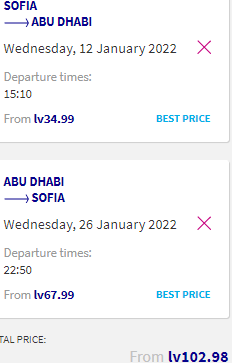Non-stop flights from Sofia, Bulgaria to the UAE (Dubai, Abu Dhabi) from just €53 roundtrip!