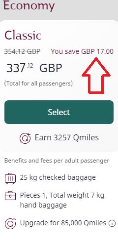 Qatar Airways promo code: 15% discount on selected flights!