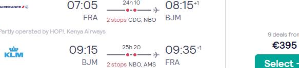 Return flights from many cities in Germany to Bujumbura, Burundi from €395!