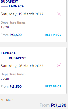 Low-cost flights from Hungary to Cyprus for €21 roundtrip!