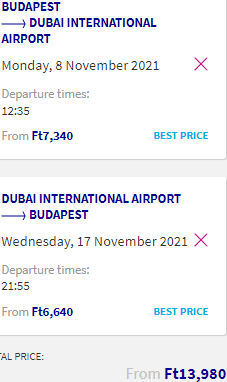 Fly to the United Arab Emirates (Dubai) from only €39 return from Budapest!